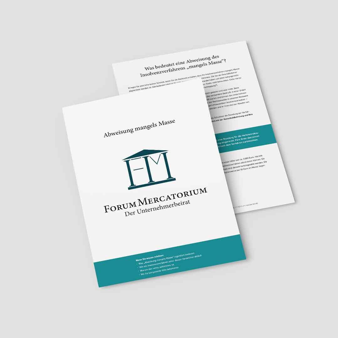 PDF-Download zum Thema Abweisung mangels Masse