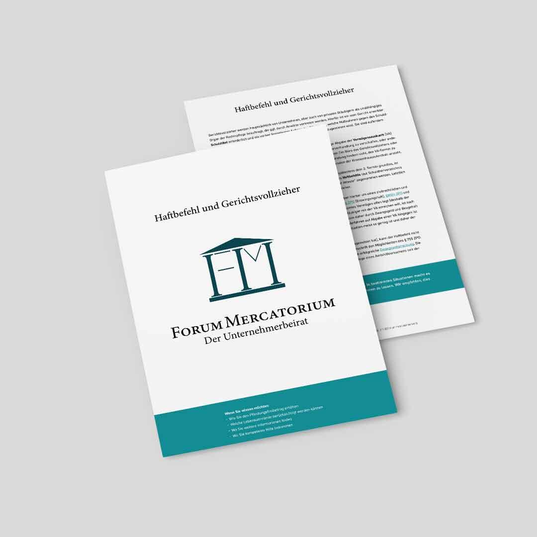 PDF-Download zum Thema Haftbefehl und Gerichtsvollzieher