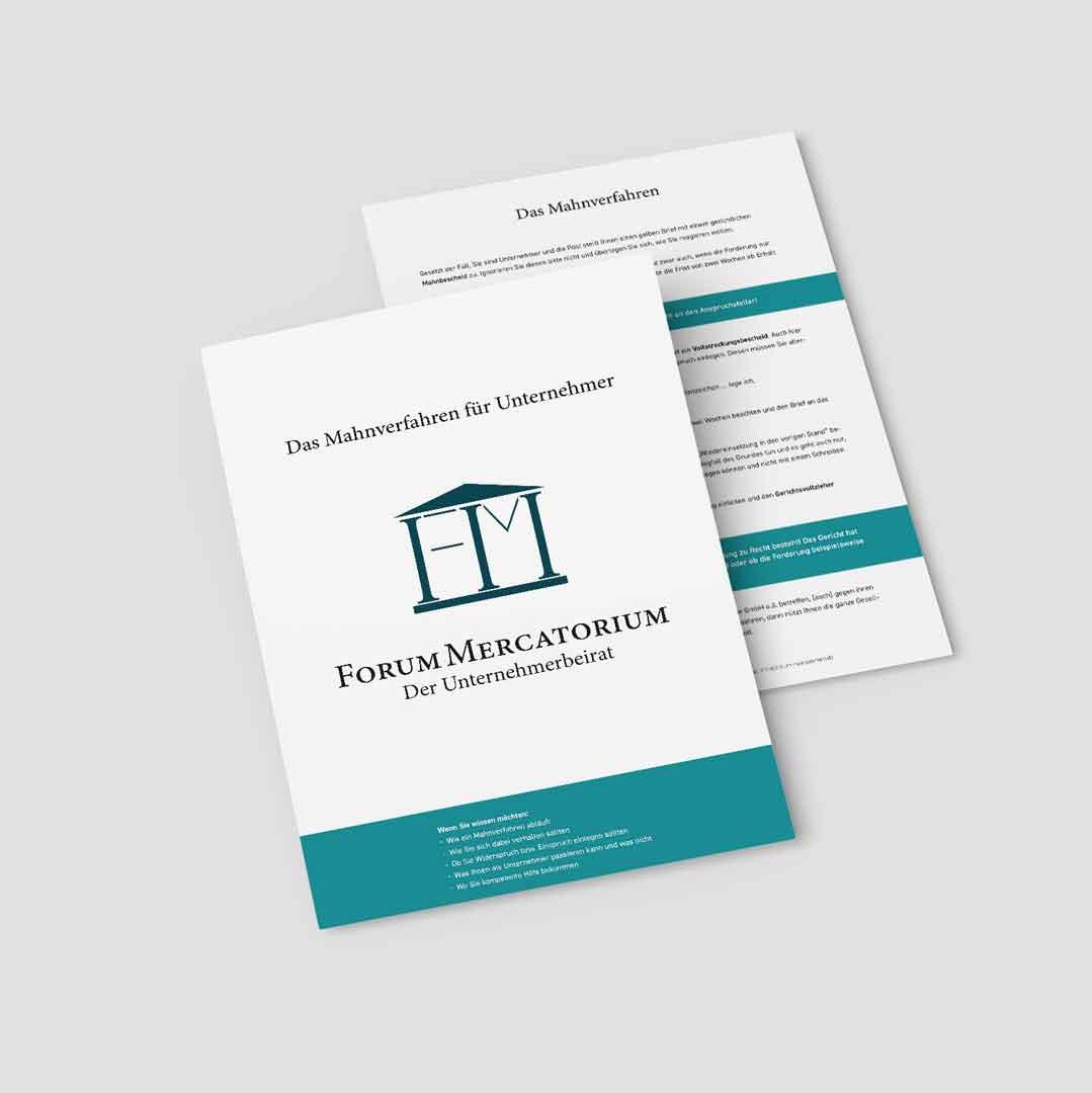 PDF-Download zum Thema Das Mahnverfahren für Unternehmer