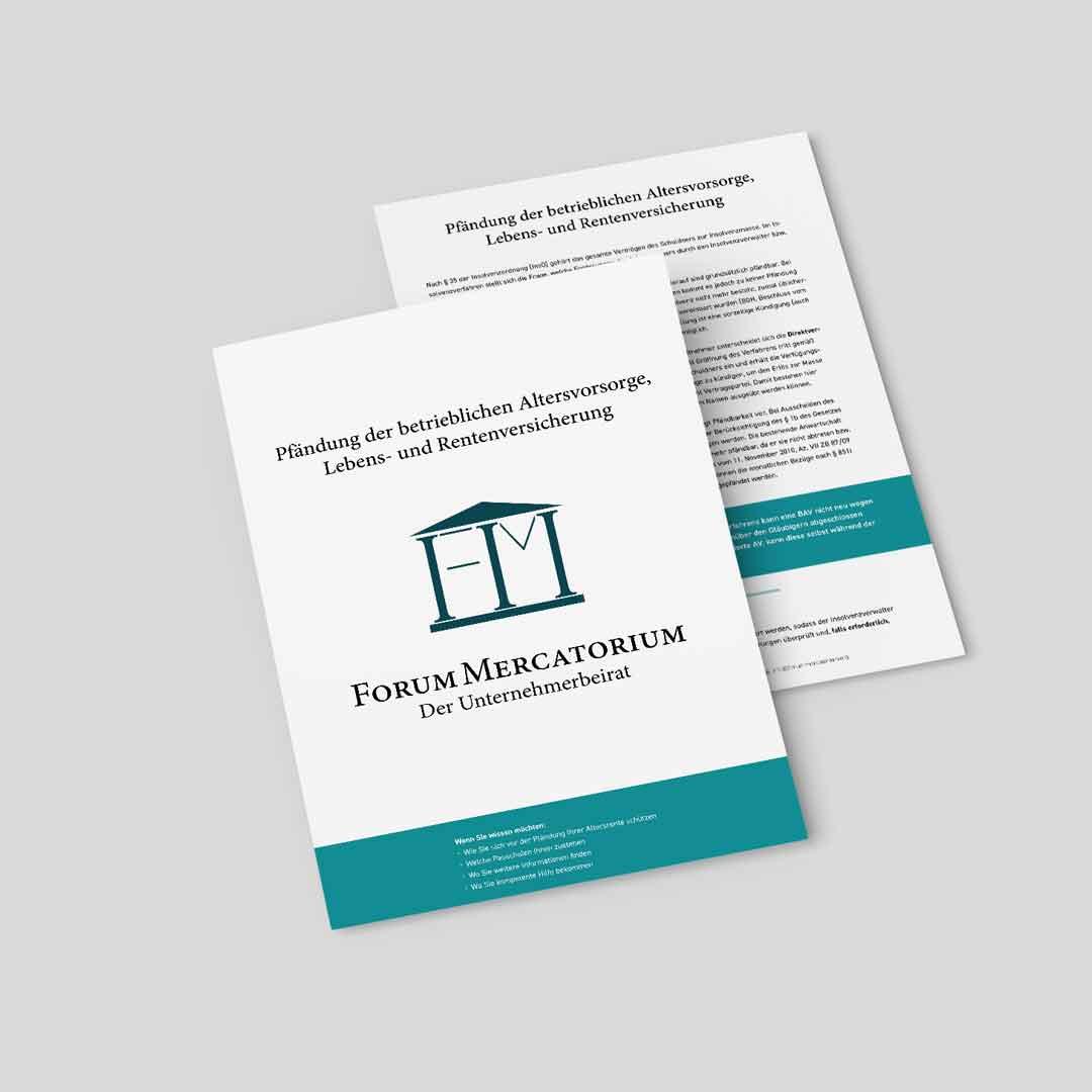 PDF-Download zum Thema Pfändung der betrieblichen Altersvorsorge, Lebens- und Rentenversicherung