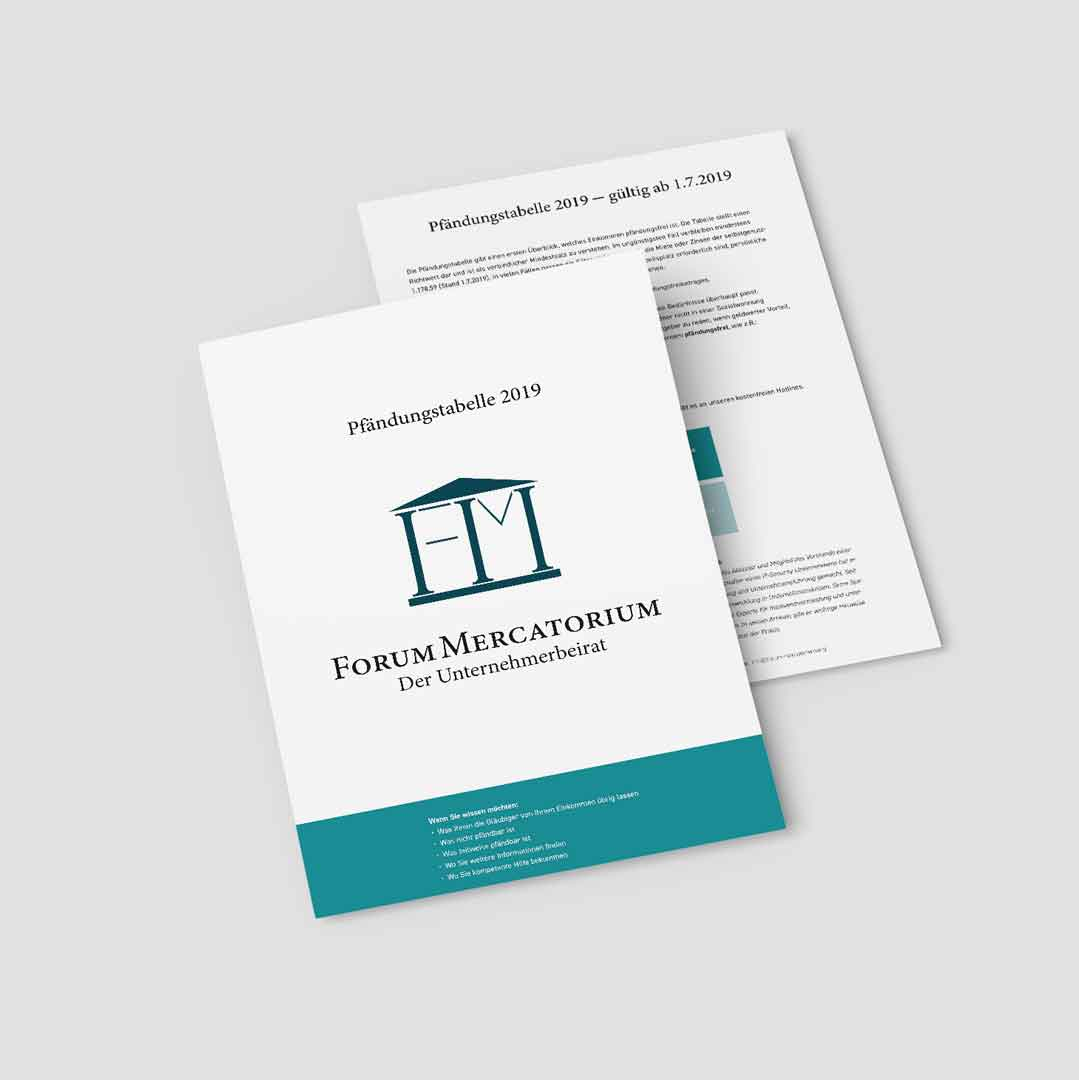 PDF-Download zum Thema Pfändungstabelle 2019